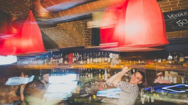 Bartender making purejuana cocktails