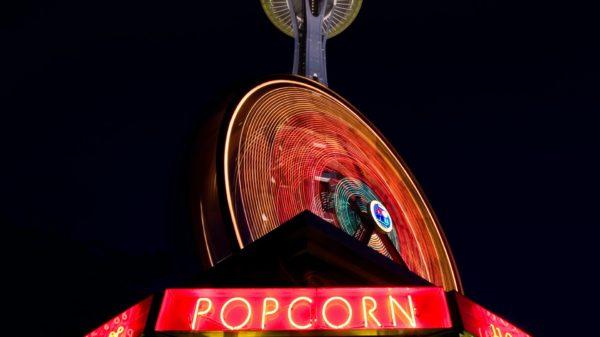 Planet Popcorn Neon Lights